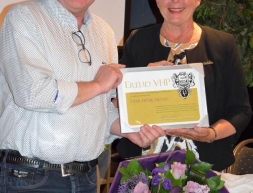 Henk Meines benoemd tot erelid VHP